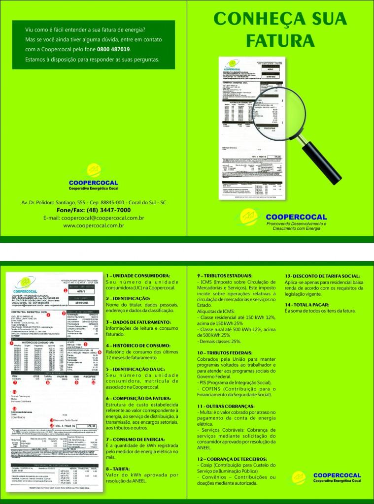 Folder Conheça sua fatura